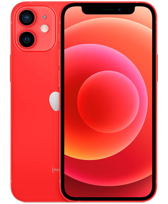 Red iPhone 12 128 GB with warranty