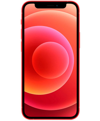 Promotional offer for a new iPhone 12 mini 256 GB in red