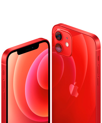 Promotion for the new iPhone 12 red with 64 GB