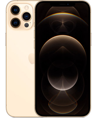 New smartphone in gold color from Apple, iphone 12 pro max 512gb