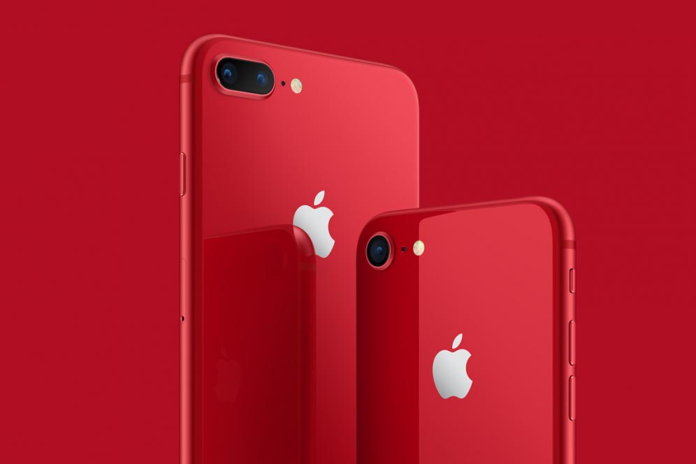 The iPhone 8 is red in perfect condition and at a low price
