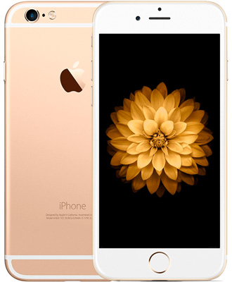 Beautiful iPhone 6 in gold color and with a refined design