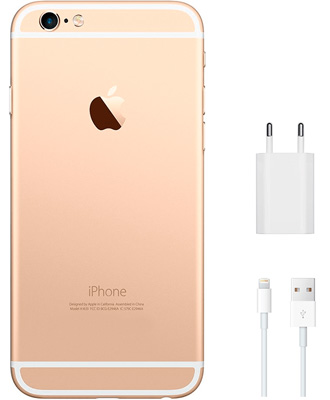 Kit for iPhone 6 pink, charger unit and cable