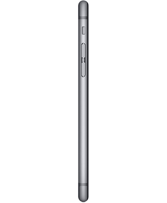 The side of the iPhone 6 64 GB in space gray