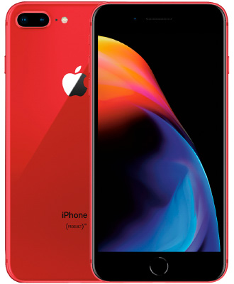 iPhone 8+ red 64 GB