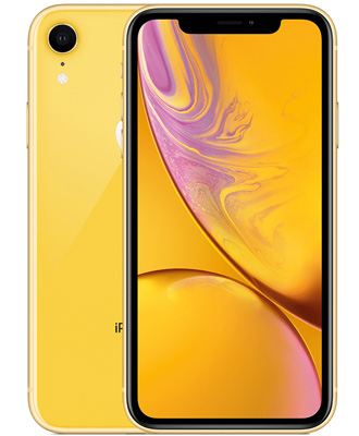 Bright iPhone XR 256 GB in yellow