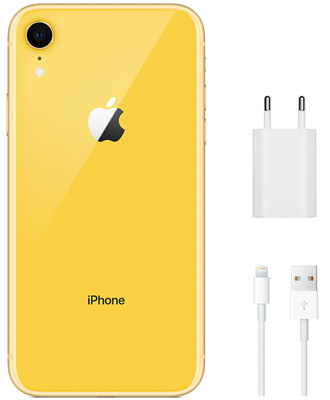 The original iPhone XR in yellow for 256 GB