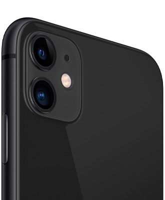The quality of the iPhone 11 is black at the height.
