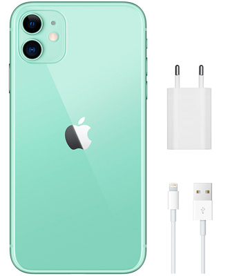Complete set when buying a green iPhone 11