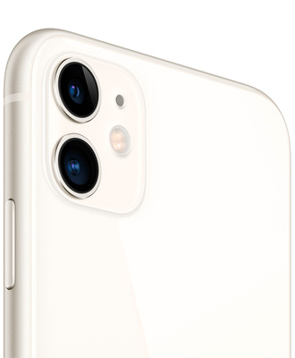The white iPhone 11 by 256 gigabytes is activated.