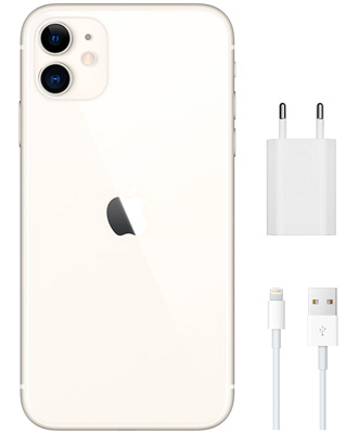 Complete set when buying a white iPhone 11.