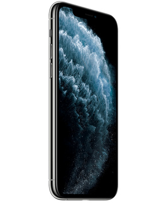 front side of the iPhone 11 pro white