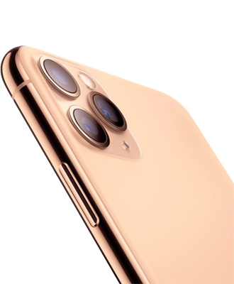 iPhone 11 Pro golden view from behind