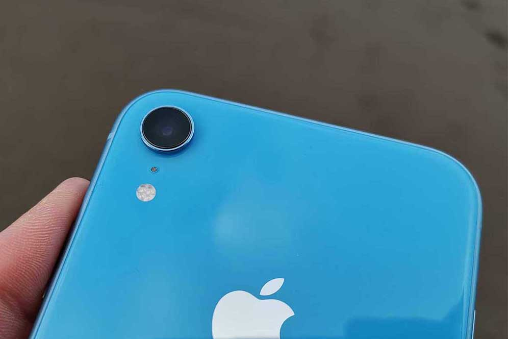 Beautiful and productive iPhone XR blue 128 gigabytes